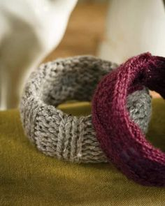 Knitted Bangles - #sweetpaul
