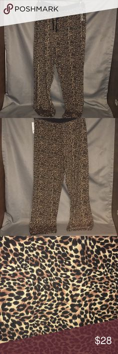NWT Rene Rofe Leopard Pajama Pants NWT Rene Rofe Leopard Pajama Pants. The waist has a drawstring tie. The rise is approx 13.5 inches high and the inseam is approx 31 inches long. Checkout my other listings and add to a bundle to save! Rene Rofe Intimates & Sleepwear Pajamas