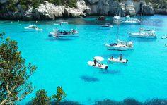 Cala Macarella, Menorca   that is some amazingly beautiful water