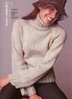 photo tricot modele tricot pull raglan femme 10