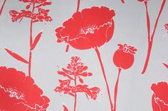 The Fabric Cellar-Clearance :: Designer Printed Cotton Drapery Fabric in Red/Seamist $7.95 per yard - FabricGuru.com: Discount and Wholesale Fabric, Upholstery Fabric, Drapery Fabric, Fabric Remnants