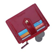 GUBINTU Leather Money Clip Credit Case Card Holder Snap Thin Wallet Zipper Pocket * Be sure to check out this awesome product. (This is an Amazon Affiliate link and I receive a commission for the sales)
