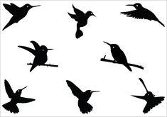 Hummingbird silhouette Vector Graphics   Silhouette Clip ArtSilhouette Clip Art