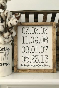 Best Days of Our Lives, Personalized Dates, Family, Wood Framed Sign, Rustic Decor, Farmhouse Style Decor, Handwritten Font, Gallery Wall #oybpinners #affiliate