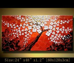 Original Abstract Painting, Impasto  flowers Thick Textured Modern Palette Knife fine art by Chen n076