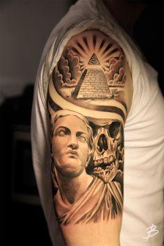 Pyramid tattoo by Lil B.