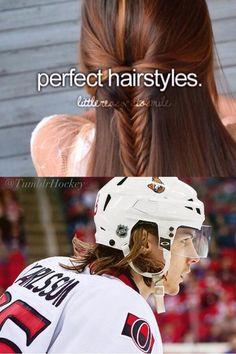 I'm jealous of Erik Karlsson's hair #Hockey #Humor #Memes
