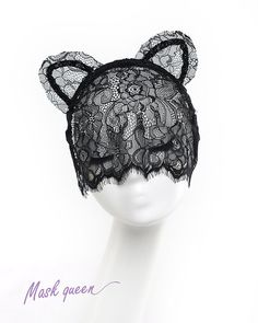 Hey, I found this really awesome Etsy listing at https://www.etsy.com/listing/176099193/sexy-cat-ears-lace-veil-party