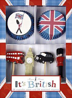 British cupcake kit http://www.oliverbonas.com/homeware/homeware_favourites/tea_party/cupcake_kit_its_british.htm