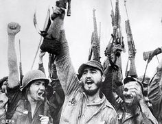 fidel castro victory | Fidel Castro, centre, celebrates the victory of the Cuban Revolution ...