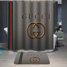 Gucci Logo Custom Shower Curtain Shower Curtain Custom Shower Curtains