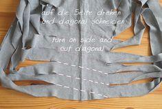 how to cut T-shirt-yarn
