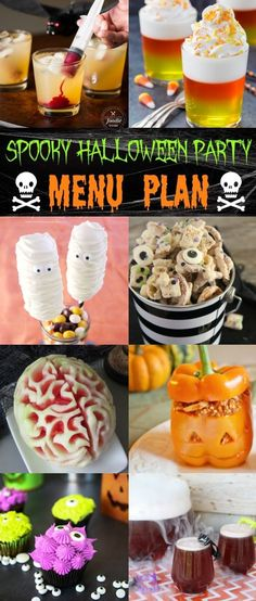 best spooky halloween party menu has everything you need for a spooktacular event fun candy corn jello cups ghost munch creepy monster cupcakes more