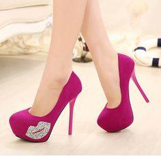 FRETE GRÁTIS 2014 nova moda sexy strass sapatos de salto alto mulheres bomba plataforma sapatos de casamento vestido de festa