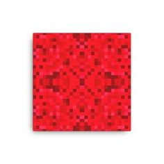 Red Pixel Canvas
