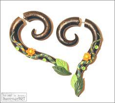 Fake gauge earrings earrings fake gauges spring by SweetlyART