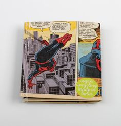 Spider-Man Comic Portemonnaie vegan upcycling wallet von Hunkepunk