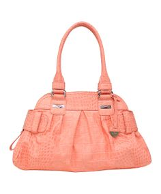 Coral Daisy Large Satchel