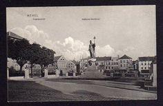 96588 AK Memel Ostpreußen National Denkmal 1911