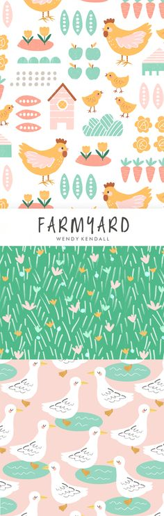 wendy kendall designs – freelance surface pattern designer » farmyard co-ord