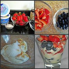 Lean and Luscious Corner: Red, White, and Blueberry Parfait