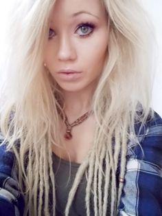 My blonde dreadlocks ✨ dreads, hairstyle, bohemian, blonde, hair