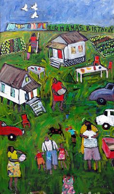 Mixed media on board. Howard Finster, Louisiana Art, Painter Artist, Art Friend, Weird Art, Outsider Art, Naive, Primitives, Black Art