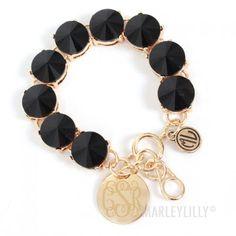 Monogrammed Glass Bead Bracelet | MARLEYLILLY