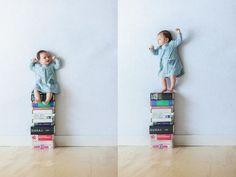 赤ちゃんの浮遊写真
