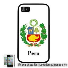 Peru Coat of Arms Flag Emblem iPhone 4 4S Case Cover by BlingSity, $13.95