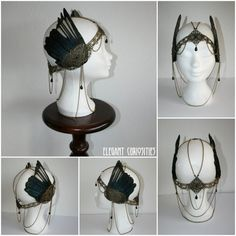 Headpiece 'Roma' with antique metal lace by ElegantCuriosities