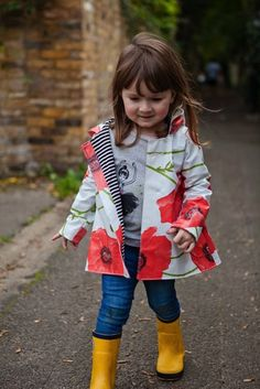 Five and Ten Raincoat at Our Family Four - so cute! She made this from a table cloth!!