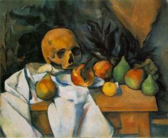 cezanne paintings | Still Life with Skull - Paul Cezanne - WikiPaintings.org