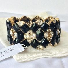 NWT J. Crew Stone Bracelet Gorgeous!  New with tags and CDs with J. Crew dustbag. Glass and epoxy stoned. No trades. Price is firm. J. Crew Jewelry Bracelets