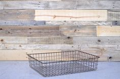 LARGE Vintage Wire Basket, Metal WIre Baket, Industrial Wire Basket, Wire Basket Storage