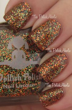 """Dollish Polish - This Is Halloween .over OPI-Decades of Shades. (""""This Is Halloween"""" Collection Fall 2012) / ThePolishAholic"""