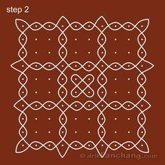 10x10 Dot Rangoli Step 2