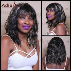 Adiors Medium Wave Highlight Full Bang Sophisticated Wig #>=#>=#>=#>=#> Click on the pin to check out discount price, color, size, shipping, etc. Save and like it!