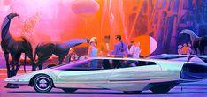 USSteel - 1961 - Syd Mead | copyright- Syd Mead | James Vaughan | Flickr Blade Runner, Aliens, Syd Mead, Pop Art, Found Object Art, Retro Futuristic, Science Fiction Art, Grid Design, Robot Art