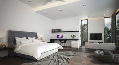 First floor master bedroom view 1