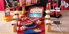Hollywood Movie Night Party Supplies - Hollywood Party Supplies - Party City