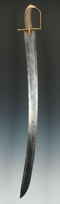 SABRE DE HUSSARD, AVEC LAME DE PRISE AUTRICHIENNE AUX ARMES DE LEOPOLD II (1790-1792) , RÉVOLUTION.