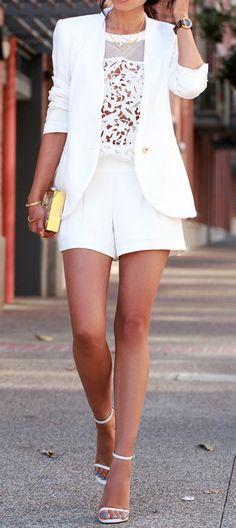 Trina Turk Fabiana short | Cameo Swing Star top | Saint Laurent Jane leather ankle strap sandals