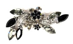 Vintage Rhinestone Flower Brooch Large by TheFashionDen on Etsy
