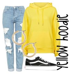 Yellow hoodie by jennyesbjornsson on Polyvore featuring Topshop, Vans and Nordstrom