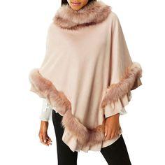 Blush 'Mcwilliams' faux fur poncho