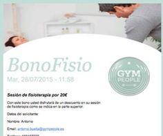 GymPeople pone de acuerdo a gimnasios y fisioterapeutas en una campaña de captación conjunta: nace Bonofisio.