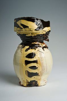 Ceramics by Dylan Bowen at Studiopottery.co.uk - 2013. Thrown and altered shape, 28cm.