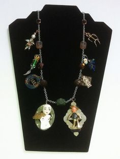 CHARM NECKLACE with faces and figures by ElenaMary on Etsy
