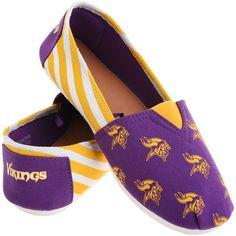Minnesota Vikings Women s Canvas Stripe Shoes -  19.99 Football Is Life 362502232